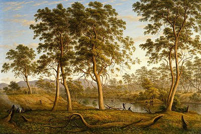 Painting - Natives On The Ouse River, Van Diemen's Land by John Glover