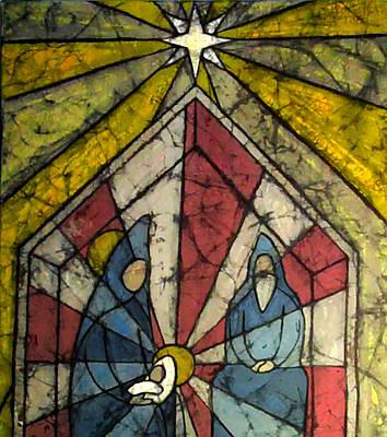 Manger Mixed Media - Nativity by Brenda Kato