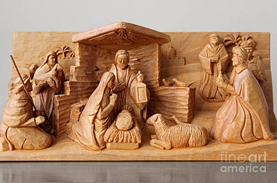 Photograph - A Christmas Creche By George Wood by Karen Adams