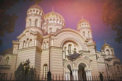 Eastern Orthodox Wall Art - Photograph - Nativity Cathedral Riga Latvia  by Carol Japp