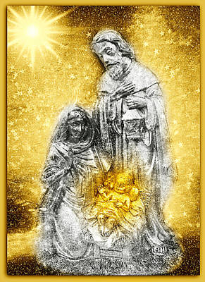 Photograph - Nativity Christmas Card by Aurelio Zucco