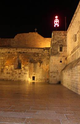 Nativity Church At Night Original by Munir Alawi