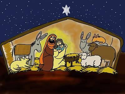 Nativity Digital Art - Nativity  by Connie Kottmann