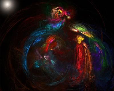 Digital Art - Nativity  by David Lane