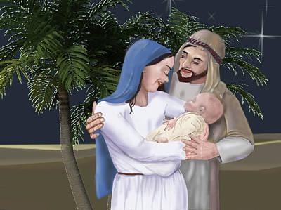 Digital Art - Nativity by Dorothy Riley