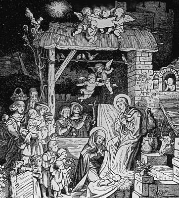 Nativity Print by German School