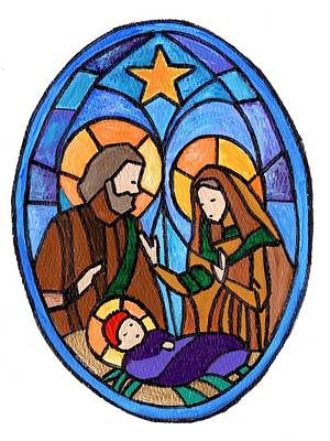 Painting - Nativity by Joe Dagher