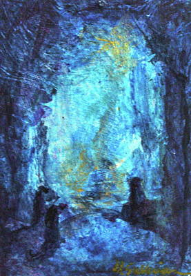 Art Print featuring the painting Nativity by Mary Sullivan