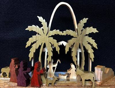 Manger Mixed Media - Nativity by Michael Bergman
