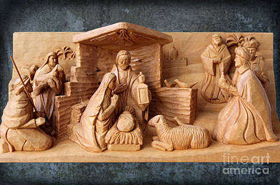 Photograph - Nativity On Patina By George Wood by Karen Adams