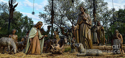 Photograph - Nativity Scene 1 by Scott Parker