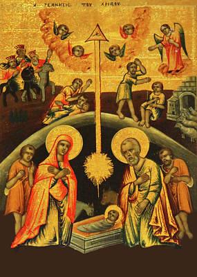 Photograph - Nativity Scene At Nativity Church by Munir Alawi