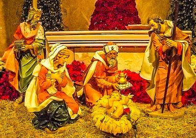 Nativity Digital Art - Nativity Scene by Barbara Zahno