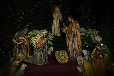 Nativity Digital Art - Nativity Scene by Deb Barchus