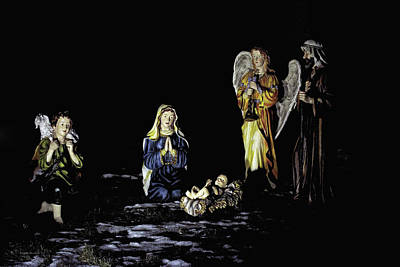 Photograph - Nativity Scene by Edward Congdon