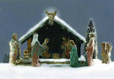 Photograph - Nativity Scene by Ellen Barron O'Reilly