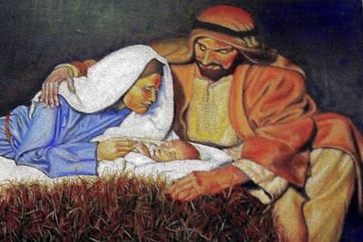Nativity Scene Art Print by G Cuffia