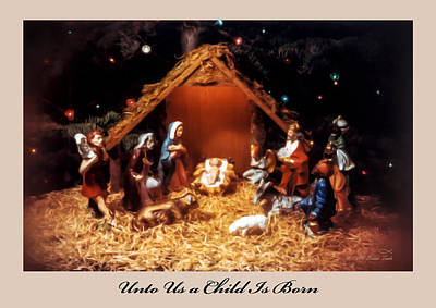 35 Mm Film Photograph - Nativity Scene Greeting Card by Brian Tada
