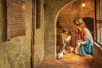 Photograph - Nativity Scene In Assisi by Carolyn Derstine