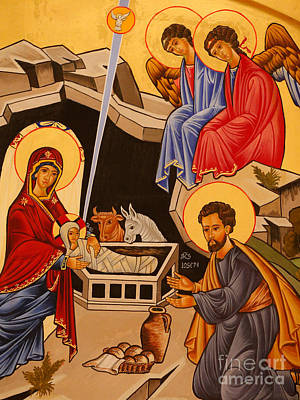 Scenes Of Italy Painting - Nativity Scene by Italian School