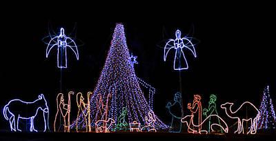 Manger Photograph - Nativity Scene by Kenneth Albin
