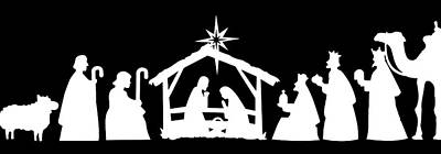 Photograph - Nativity Silhouette by Munir Alawi