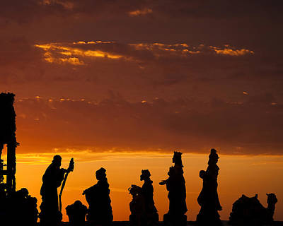 Three Kings Photograph - Nativity Sunrise by Andrew Soundarajan