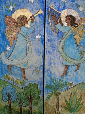 Painting - Nativity Triptych Front by Sarah Hornsby