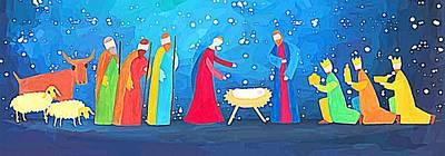 Photograph - Nativity Whole Story by Munir Alawi