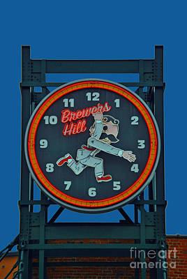 National Bohemian Beer Photograph - Natty Boh Clock by Jost Houk
