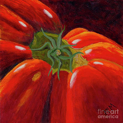 Painting - Natura Morta Home Grown Tomato by Garry McMichael