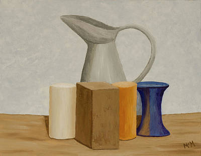 Painting - Natura Morta One Homage To Giorgio Morandi by Garry McMichael