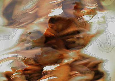 Digital Art - Natural Abstraction With Enhancement by Kae Cheatham