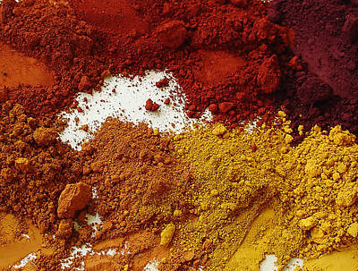 Photograph - Natural Artist Pigments by Terrance DePietro