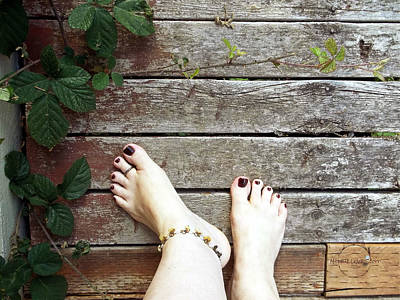Photograph - Natural Barefoot by Absinthe Art By Michelle LeAnn Scott