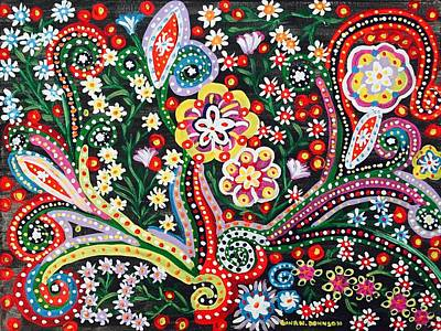 Colorful Abstract Painting - Natural Beauty by Gina Nicolae Johnson