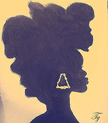 Natural Hair Painting - Natural Beauty by Ty