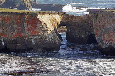 Photograph - Natural Bridge At Point Arena by Mick Anderson