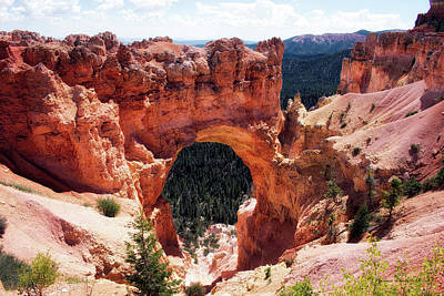 Photograph - Natural Bridge Bryce Canyon National Park Utah by Thomas Woolworth