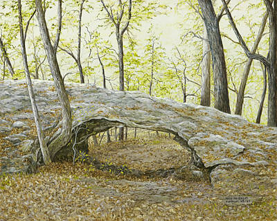 Painting - Natural Bridge, Eureka Springs, Ar by Mary Ann King