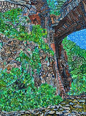 Natural Bridge Art Print by Micah Mullen