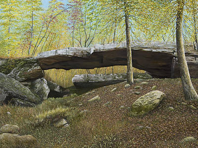 Painting - Natural Bridge, Clinton, Arkansas by Mary Ann King