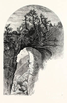 Natural Bridge, Virginia Art Print by John Douglas Woodward
