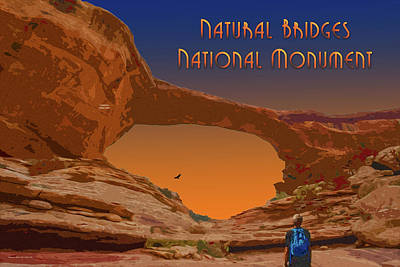 Digital Art - Natural Bridges National Monument by Chuck Mountain