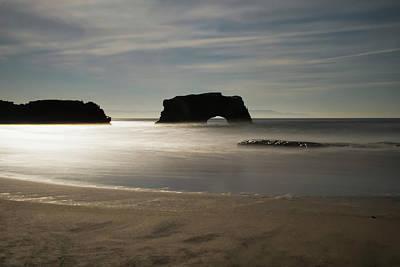 Photograph - Natural Bridges State Beach Sand by Wes Jimerson