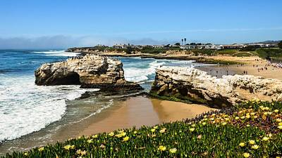 Photograph - Natural Bridges State Park Beach by Marilyn MacCrakin