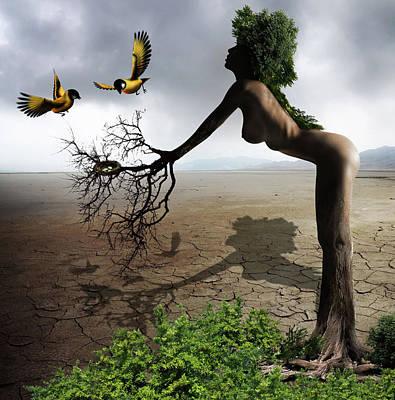 Soil Digital Art - Natural Caregiver by Solomon Barroa