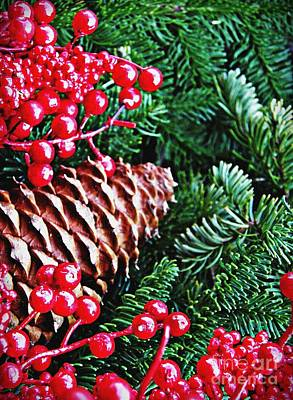 Pine Cones Photograph - Natural Christmas 2 by Sarah Loft