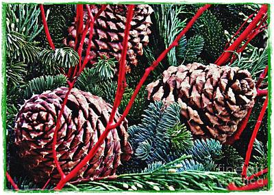 Natural Christmas 4 Card 1 Art Print