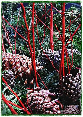Natural Christmas Card 2 Art Print by Sarah Loft